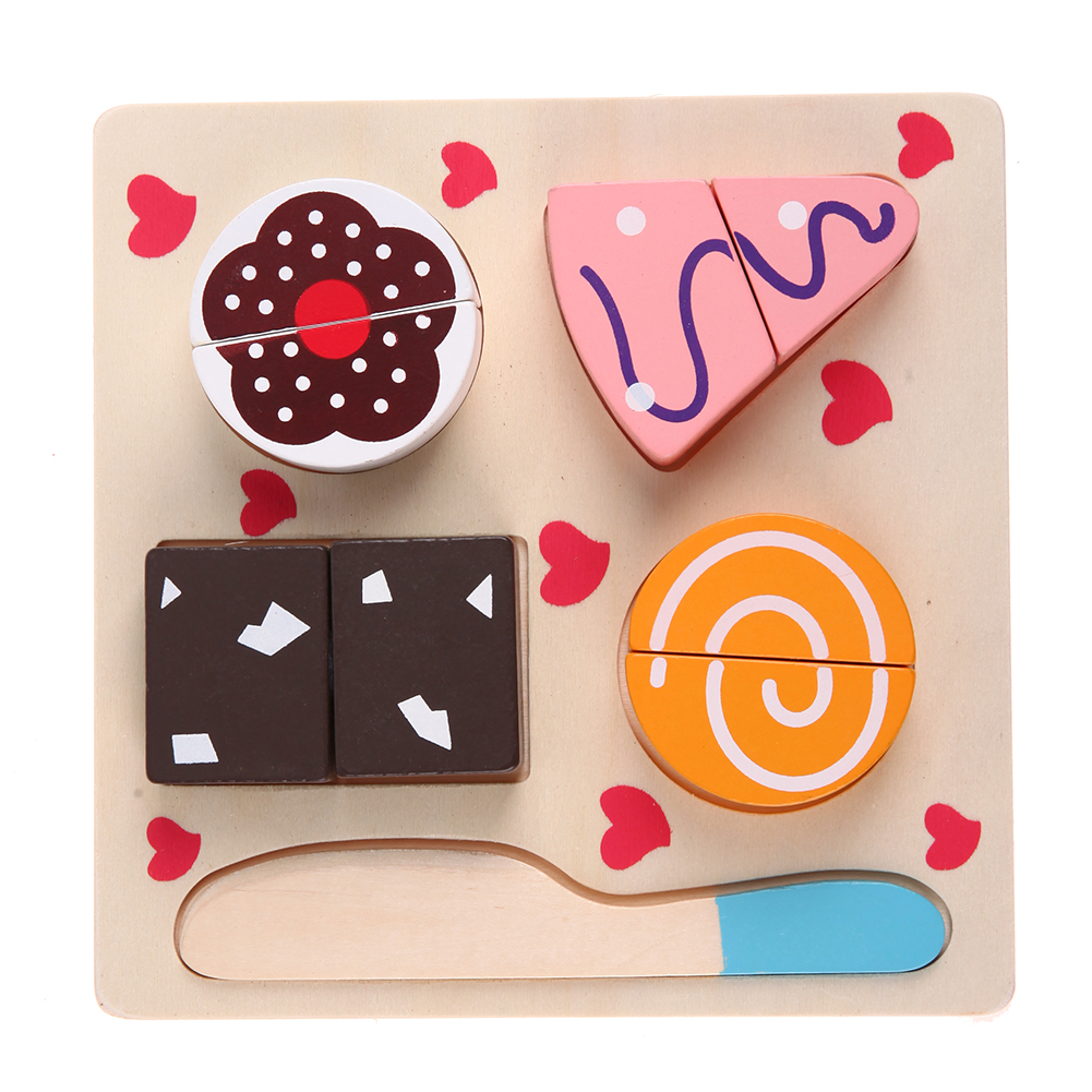 Kayu Anak Buah Sayuran Pemotong Kue Slice Dan See Bayi Klasik Dapur Mainan Puzzle Stiker Sayur Cut Makanan Penutup Memasak Berpura