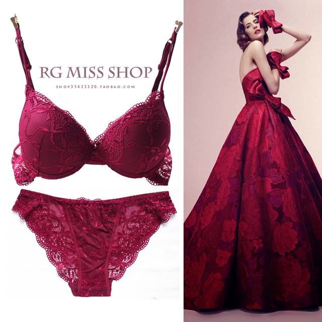 Summer thin sexy lace bra underwear women s small push up sexy fashion underwear  set 7e21c102e