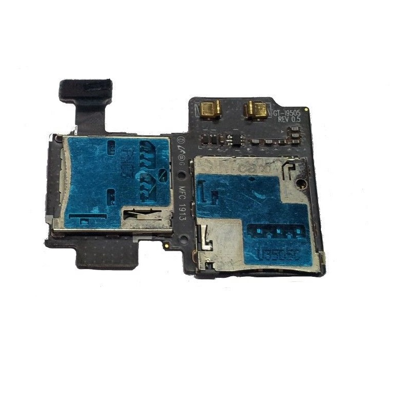 For Samsung Galaxy S4 LTE GT-I9505 SIM And MicroSD Memory Card Reader Holder Slot Socket Flex Cable