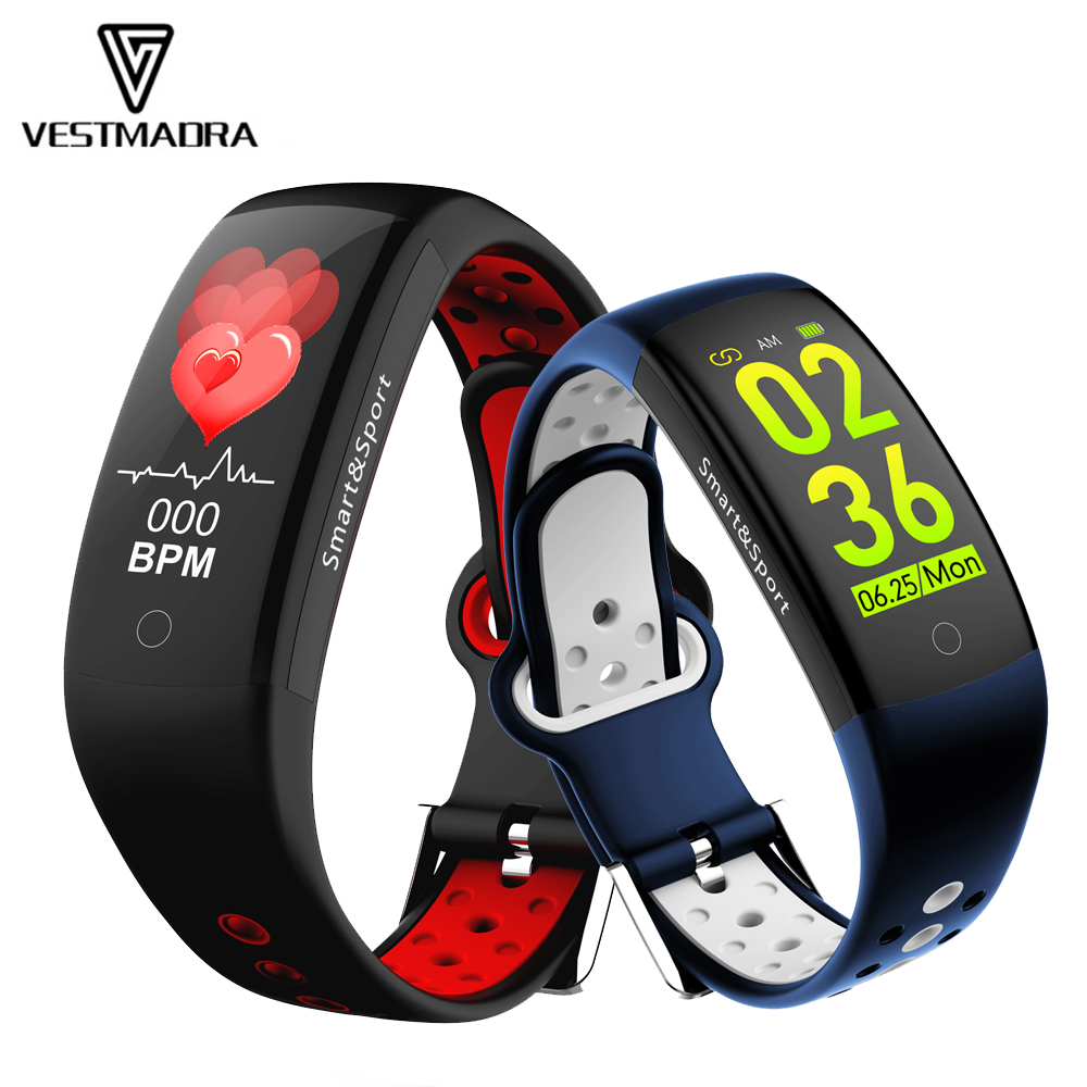 VESTMADRA Q6S 3D Dynamic UI Fitness Tracker Heart Rate Monitor Wristband IP68 Waterproof Sports Smart Band for Android IOS PhoneVESTMADRA Q6S 3D Dynamic UI Fitness Tracker Heart Rate Monitor Wristband IP68 Waterproof Sports Smart Band for Android IOS Phone