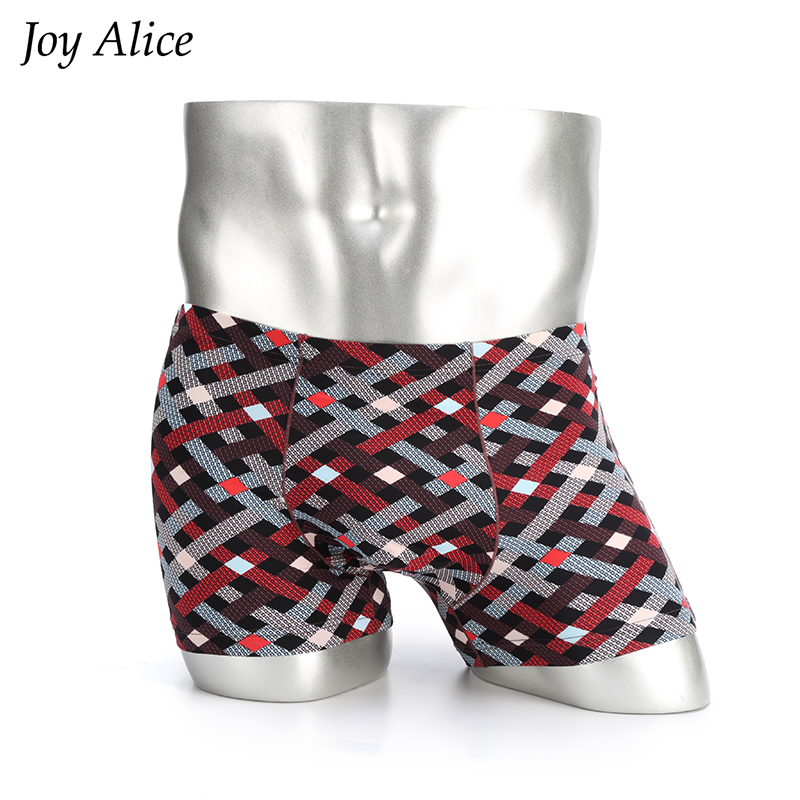Boxer Mens Underwear Shorts Panties Sexy Male Cotton Cueca for Man Sky-Print