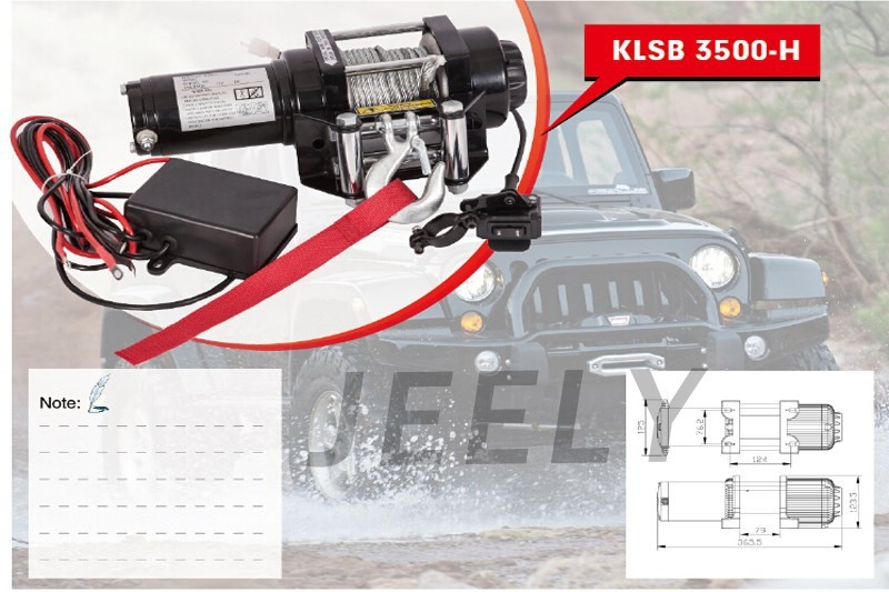 Free shipping 3500LB winch,electric winch 12V,4X4/UTV/ATV WINCH hot sale high quality 2000lb electric winch kits for atv utv off road vehicle 12v differential planetary