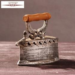 Zakka Bar Style Vintage Home Decor Crafts Are Restoring Ancient Ways Shabby Chic Iron 13.5*13*8cm