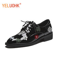 Oxfords Shoes For Women Genuine Leather Flat Shoes Women High Top Quality Leather Shoes