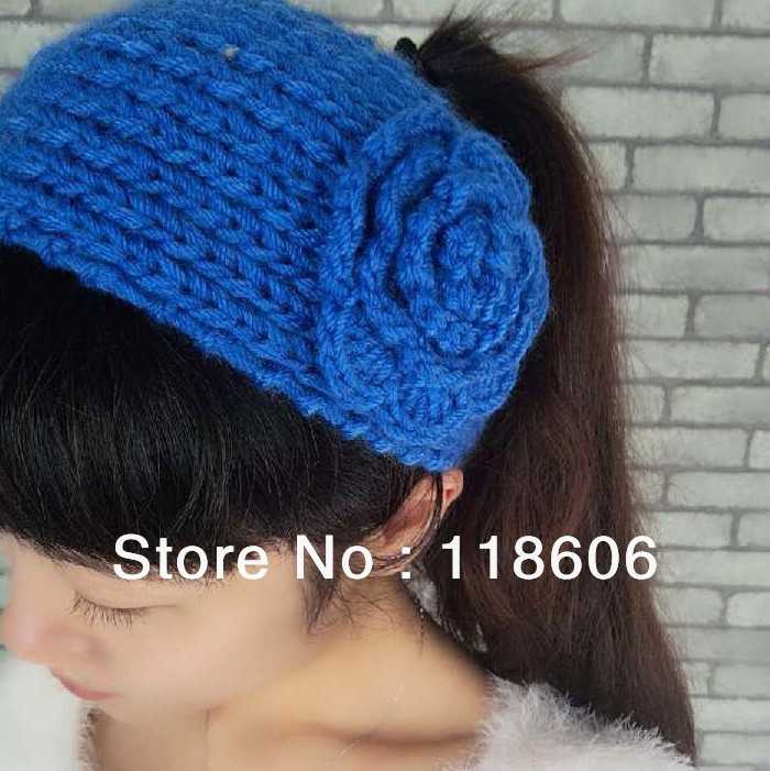 Free Shipping Acrylic Fiber Knit Headband Winter Fashion Accessories