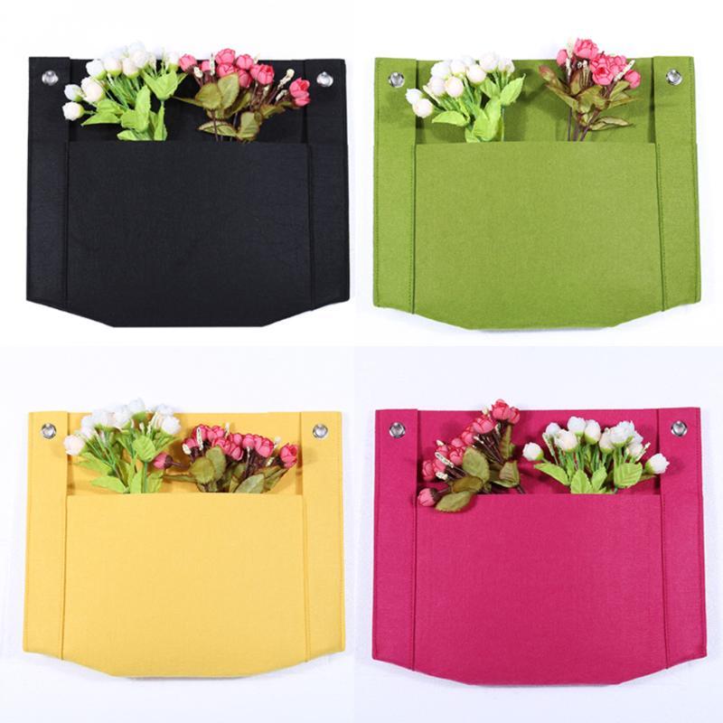 50x44cm Single Pocket Wall Planter Vertical Garden Flower Pots Hanging Bags Garden Ornament Home Supplies