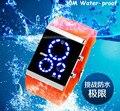 Nuevos Deportes Diseñador de Moda Marca Mujeres de Los Hombres Relojes Digitales 100% 30 M Impermeable Reloj de pulsera de Cuarzo Reloj de La Jalea Del Color Del Caramelo NW785