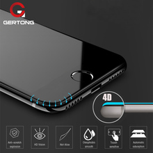 4D Curved Edge Full Cover Screen Protector For iPhone 6 7 6S Plus New Tempered Glass For iPhone 8 Plus X 10 Toughened Film
