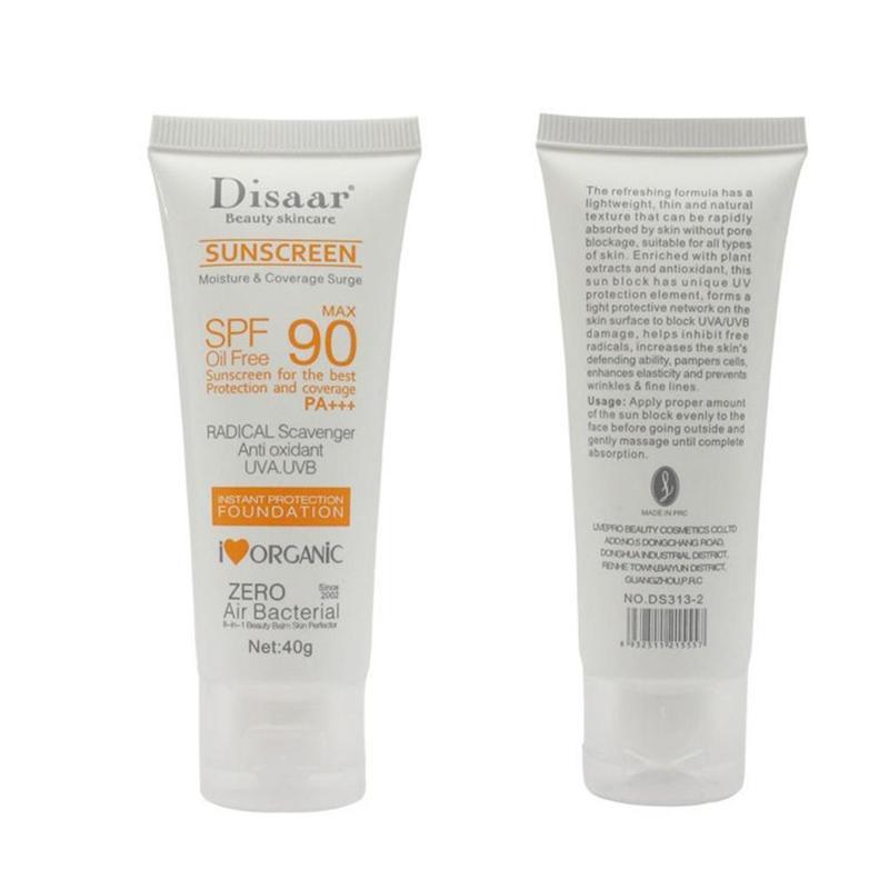 Disaar Suncreen Sun Cream Protector Solar Max 90 Oil Free Radical Scavenger Anti Oxidant Uva/uvb 40g Summer Sunscreen Cream