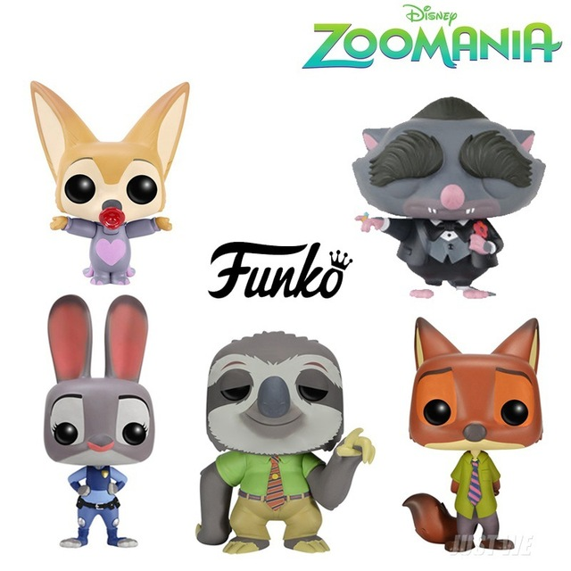 2016 New Flash Funko Pop Movie Nick Wilde Zootopia Figurines Toys Juddy Hoppps Mr Big Finnick Figura De Vinil Vinyl Figure