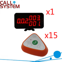 Ycall Wireless Restaurant Calling System With Long Range Distance Range CE Passed Full Set ( 1 display+15 call button )