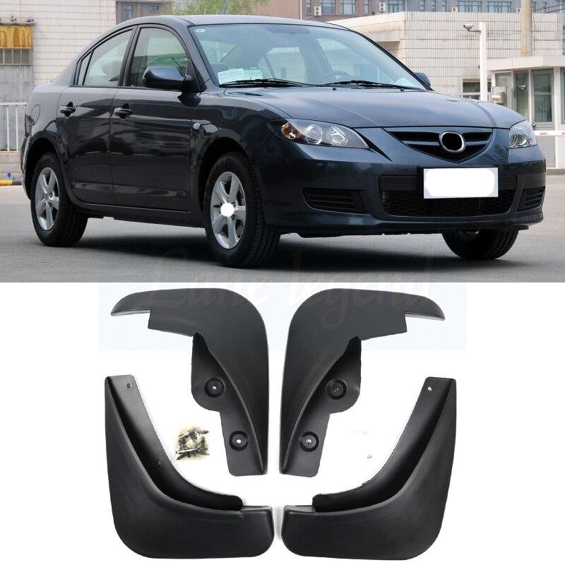 For 2007 2008 2009 Mazda 3 I Sedan After-facelift Splash Guards Mud Flap Mudguards Fender Front Rear Molded Car Mud Flaps