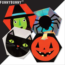 FUNNYBUNNY Halloween Tray Disposable Party Supplies Tableware party