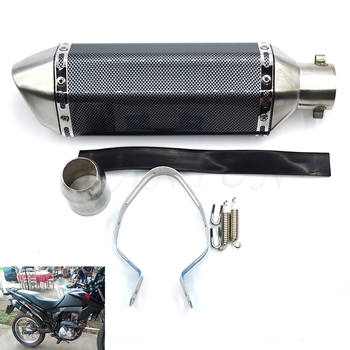 Universal 36-51mm Motorcycle Exhaust Pipe Muffler Scooter Escape Moto For Kawasaki ER-6F ER-6N ZX-6 ZZR600 ZX9R Z750 NINJA 650R