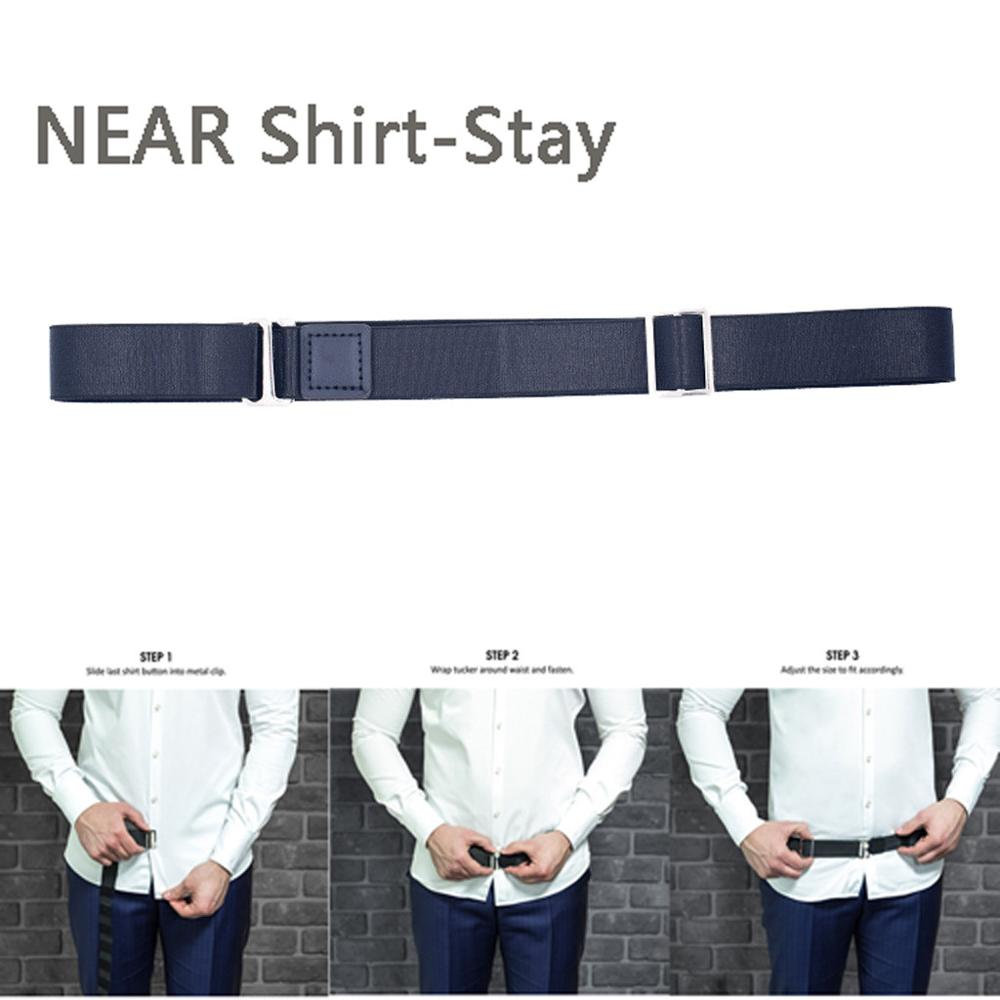 2.50CMx120CM Adjustable Near Shirt-Stay Best Shirt Stays Black Tuck It Belt Shirt Tucked Mens Shirt Stays For Women Men Work D