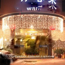 GREAT!Festival lighting yard hotel decoration 1*6m warm white LED star light H060
