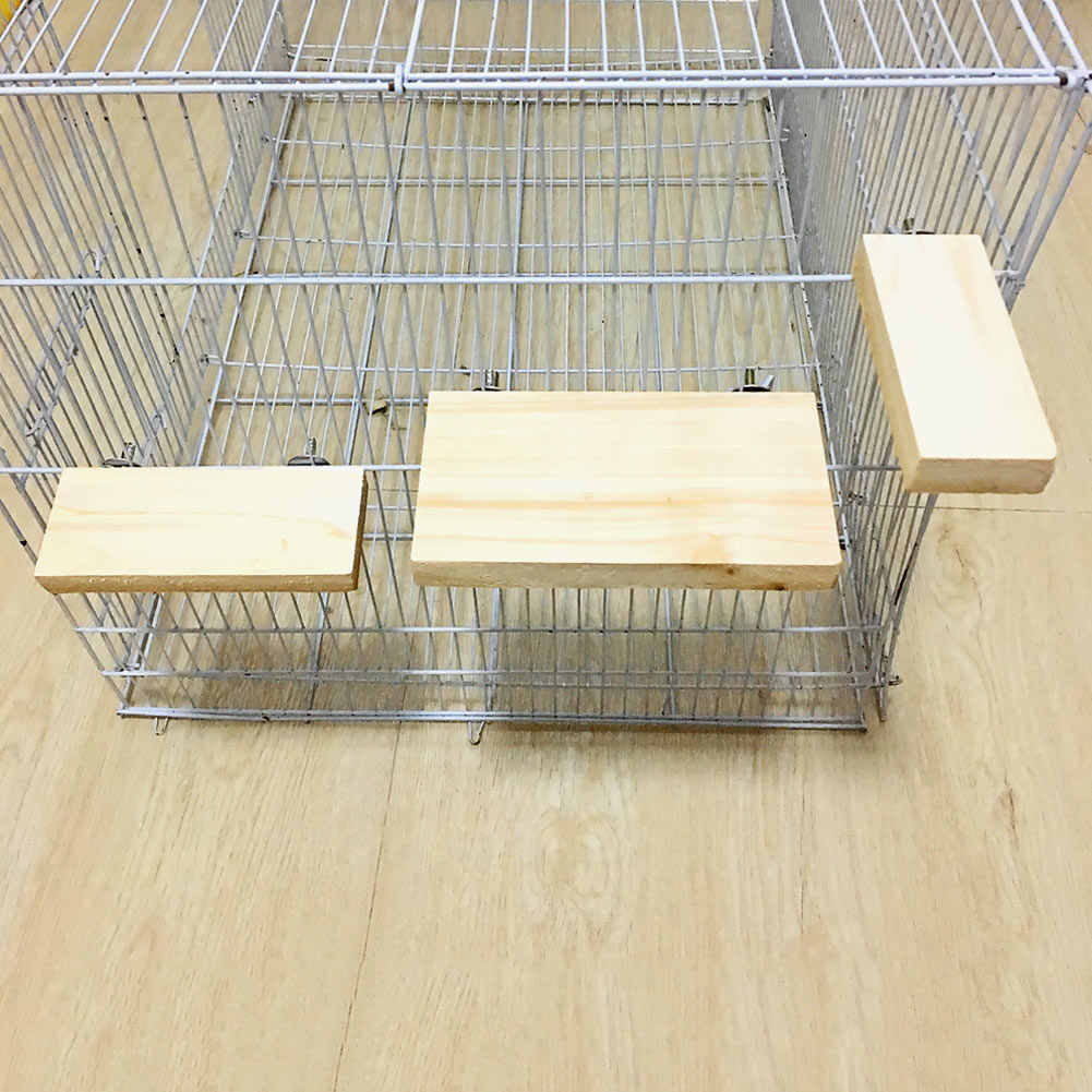 Hot Wood Stand Platform Toy Paw Grinding Clean Cage Accessories For Parrot Hamster  XH8Z DC04