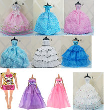 11styles Handmade Wedding Dress Princess Evening Party Long Gown Skirt Bridal Veil Clothes Doll Accessories Gift Toy(China)