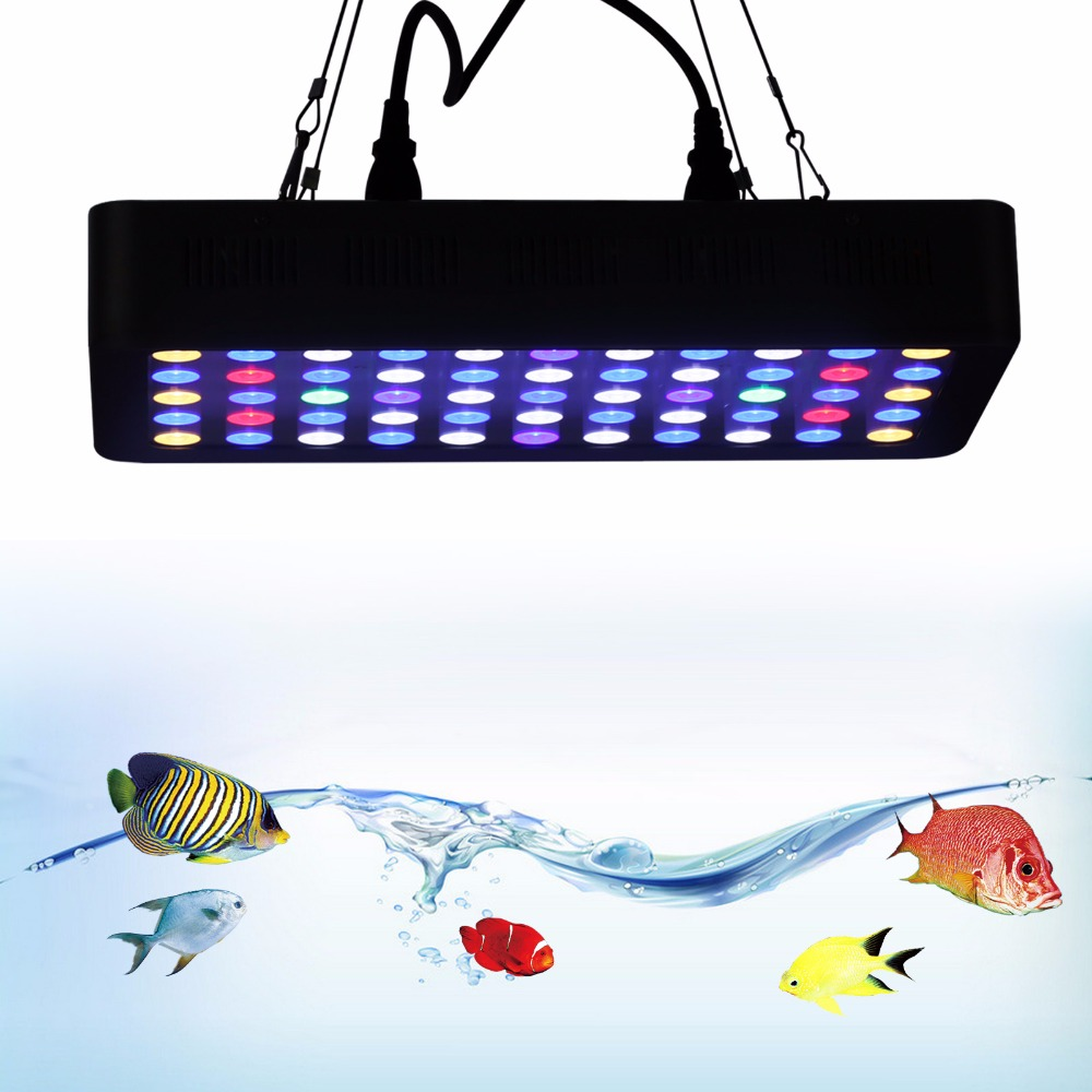 Dimmable 165W LED Aquarium Light Full Spectrum Reef led Coral Marine for coral growth fish plant tank lamp lighting