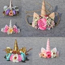 Felt Unicorn Horn Headband Easter Headband Unicorn Flower Crown Couture Headband Photo Prop