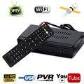 Tamanho Mini DVB-S2 HD Receptor de Satélite Digital IPTV Combo Set Top CAIXA de IPTV Apoio Upload de Canal WIFI IKS CCCAM VU Poder Compartilhar
