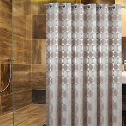 High-quality modern classic hotel wind big ring mirror shower curtain waterproof mildew-proof household goods circle bathroom