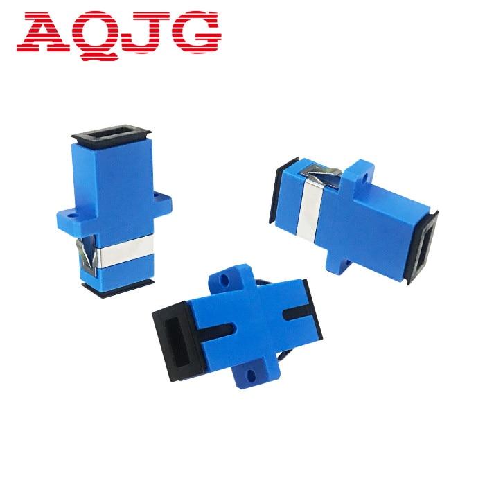 New Carrier-Class Fiber Optic Connector Adapter SC / UPC SM Flange Singlemode Simplex SC-SC Coupler 100pcs / lots Wholesale