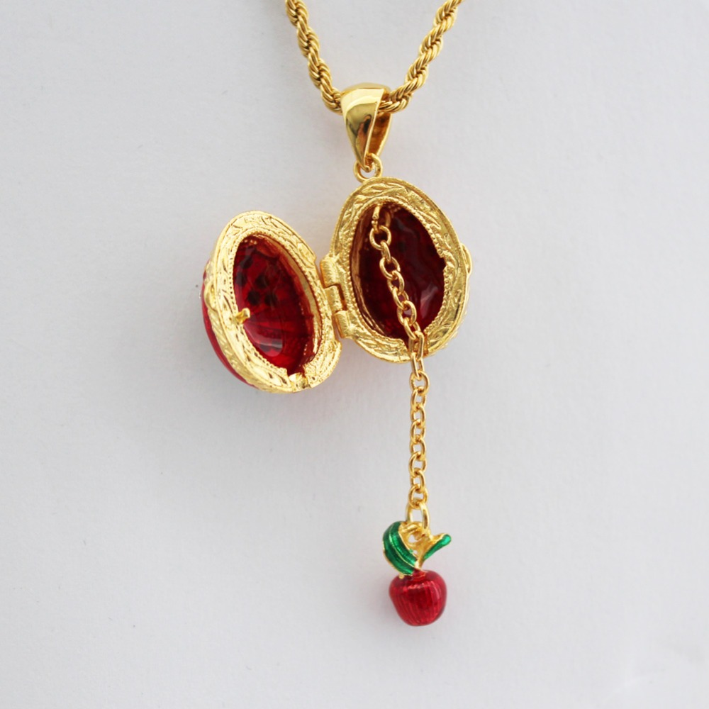 Women crystal necklace enamel handmade jewelry can open flower women crystal necklace enamel handmade jewelry can open flower basket little apple brass vintage egg pendant charm gift to women in pendants from jewelry mozeypictures Gallery
