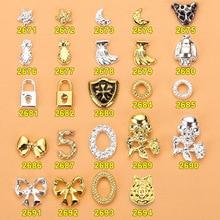 100pcs 3D nail decoration/ Moon&Star metal Nail DIY deco charm sticker for gel polish design/ Jewelry crafts
