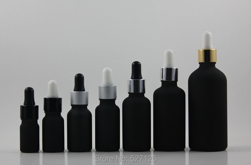 Aliexpress Com Buy 30ml Black Frosted Glass Bottle With