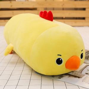 Image 4 - Joint Animal en peluche, joint Animal licorne raton laveur, joint, coussin pour dormir doux, poupées, jouets de dessin animé pour bébés, 50/60/80CM, 1 pièce