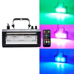 40 w rgb flash luz projetor de natal estroboscópios lâmpada soundcontrol palco luz dj disco led luzes estroboscópicas