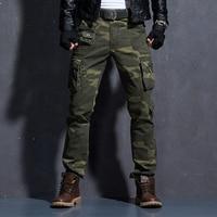 Camouflage Military Pants Men Men's Cargo Army Trousers Mens Tactical Militari Baggy Camo Pants Winter Warm Denim Pants.FA01
