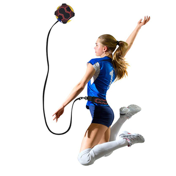 Gorące nowe treningi do siatkówki powracają sprzęt do piłki pomoc wielkie pasy trenera do solowej praktyki serwowania tosses regulowana długość tanie i dobre opinie LCQPTW Volleyball trainer Kryty compitition ball Other Nylon (elastic)