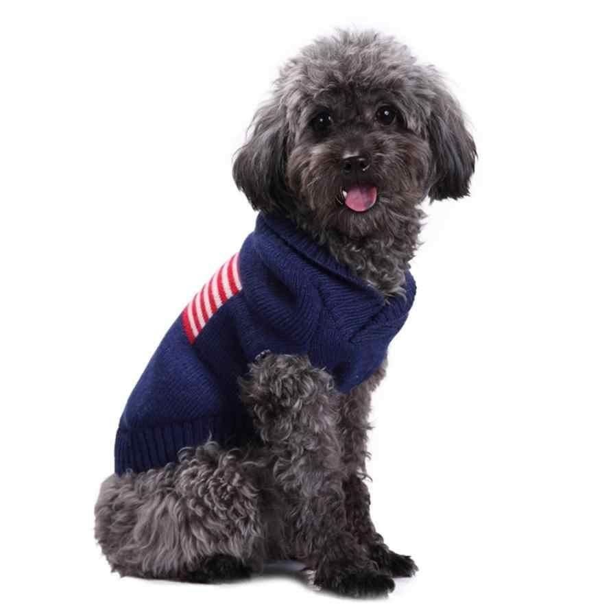Transer свитер для собаки, для питомца, свитер с изображением американского флага Pet вязаный джемпер зимний теплый свитер Щенок Костюм 3,20