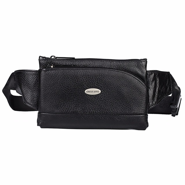 c70e182a345c US $14.9 29% OFF|Genuine Leather Men Fanny Waist Belt Bag Hip Bum Purse  Bags Travel Male Real Cowhide Cell Mobile Phone Case Sling Chest Pack-in  Waist ...