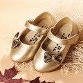 2017 Arco Nudo de la Muchacha Del Niño Del Otoño Zapatos/Moda Zapatos de Los Bebés/Las Muchachas Del Niño de Ballet Pisos/Muchachas de Los Niños zapatos