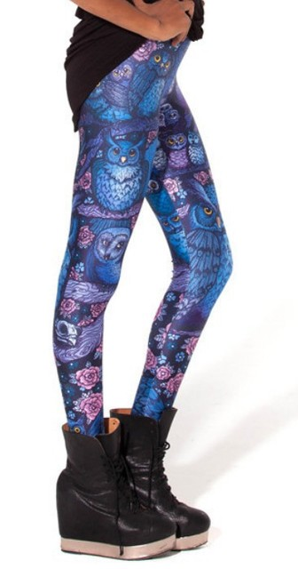 Midnight Owl 3D Print Leggings