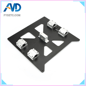 Image 5 - Aluminum Y Carriage Anodized Plate With SC8UU pgrade Prusa i3 V2 Hot Bed Support Plate For Prusa i3 RepRap DIY 3D Printer parts