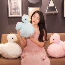 Cute White Swan Plush Toys PP Cotton Stuffed Animal Crown Doll Rag Children Show Props Girls Gift