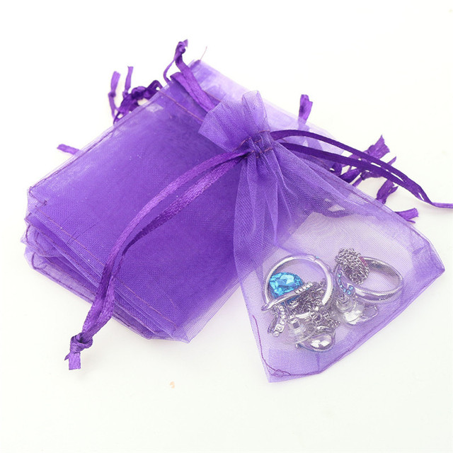 50pcs 10 15cm Organza Bags Wedding Pouches Jewelry Packaging Nice Gift Bag Multicolor Tulle
