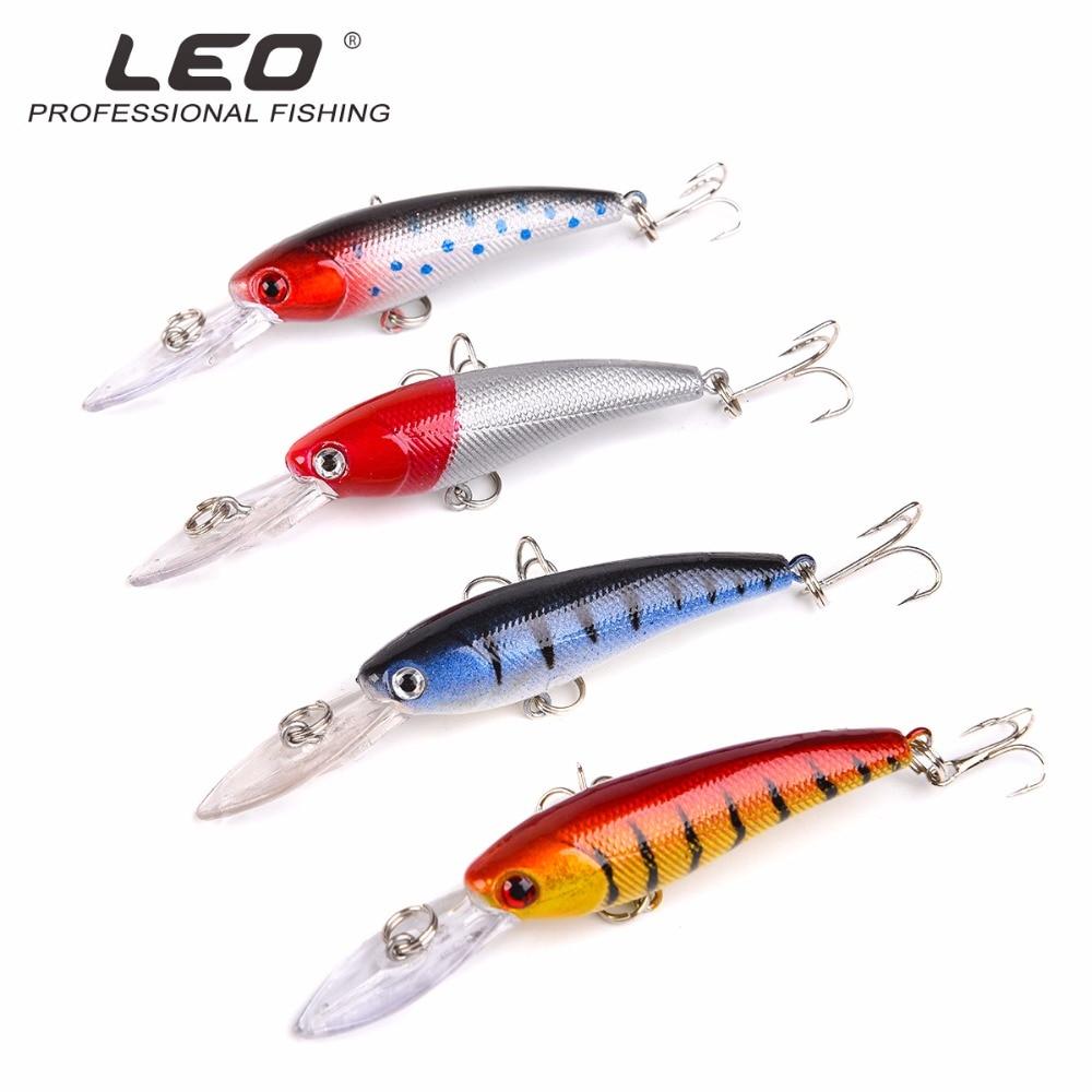 LEO 9cm 7.5g Tungsten balls long casting New model fishing lures hard bait dive 1.3 - 2m quality professional minnow