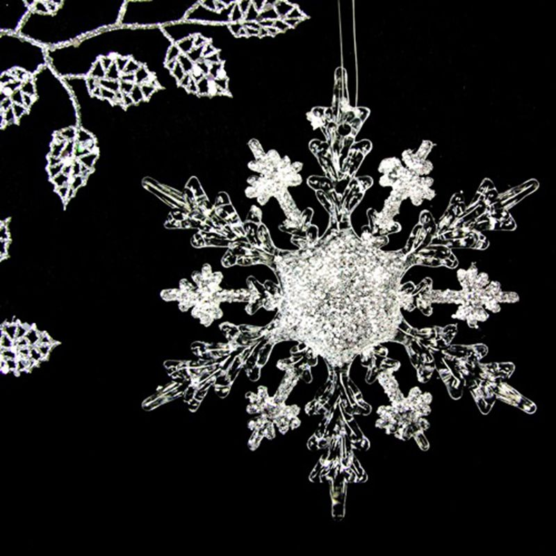 Acryl resin snowflake, Christmas ornament, Jewelry, vintage christmas, resin snowflake, 17CM x 4pcs недорго, оригинальная цена