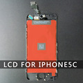 10 ШТ./ЛОТ AAA качество ЖК-Стекло-Экран Для Iphone 5C Черный Сенсорная Панель Планшета Ассамблея Полный Бесплатный Screen Protector