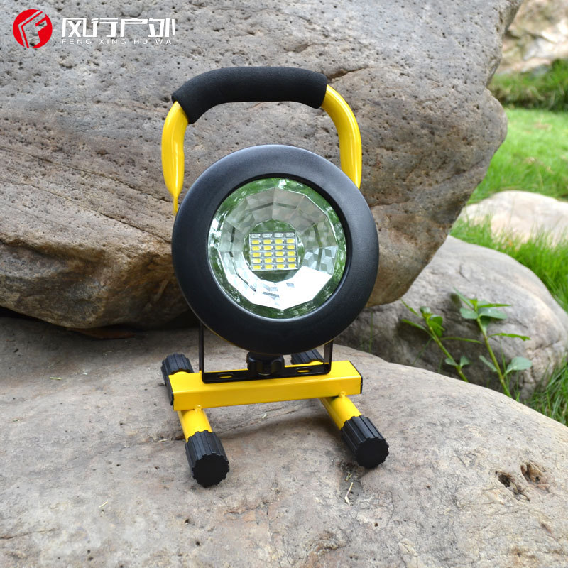 Rechargeable 18650 lithium battery 20 LED floodlight searchlight hand lamp charging floodlight warning light portable lighting