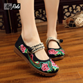 Retro chinese embroidered shoes Women Linen weave tape Shoes Mary Jane laides Flats oxford shoes for women sapato feminino femal