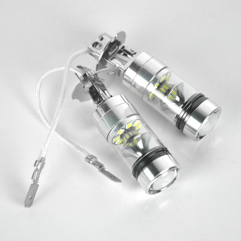 2 pcs Universal Brouillard Lampe 100 W 1000LM H3 LED Brouillard Lumière ampoule Phare De Voiture Ampoules 360 Degrés Auto Éclairage Phare Feux de jour lumières
