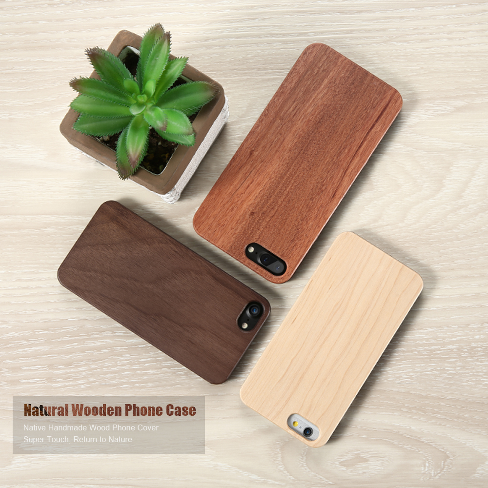 DOEES For iPhone 5 5S 6 6S 7 Retro Real Wooden PC Phone Cases For Apple iPhone 7 6 6S Plus 5 5S SE X 10 8 Bamboo Cover Bag Coque