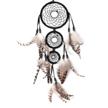 Dream Catcher Black Net with Feathers Wall Hanging Decoration Decor Gift Hanging Decoration Crafts Ornament Dreamcatcher Gift