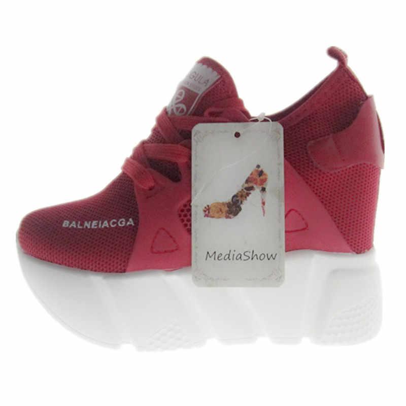 Новинка 2019 года; женская повседневная обувь на платформе; модная обувь на высоком каблуке; женская обувь на танкетке; лоферы; увеличивающие рост; zapatos mujer